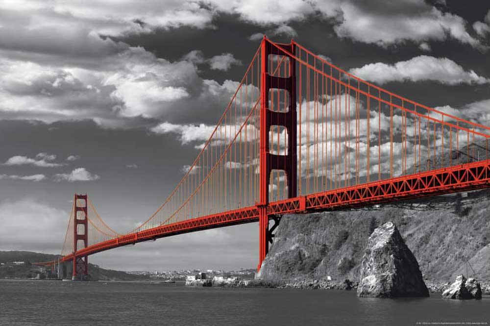San Francisco Golden Gate Bridge Colorlight Poster
