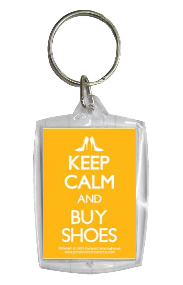 Keep Calm And Buy Shoes Keyring