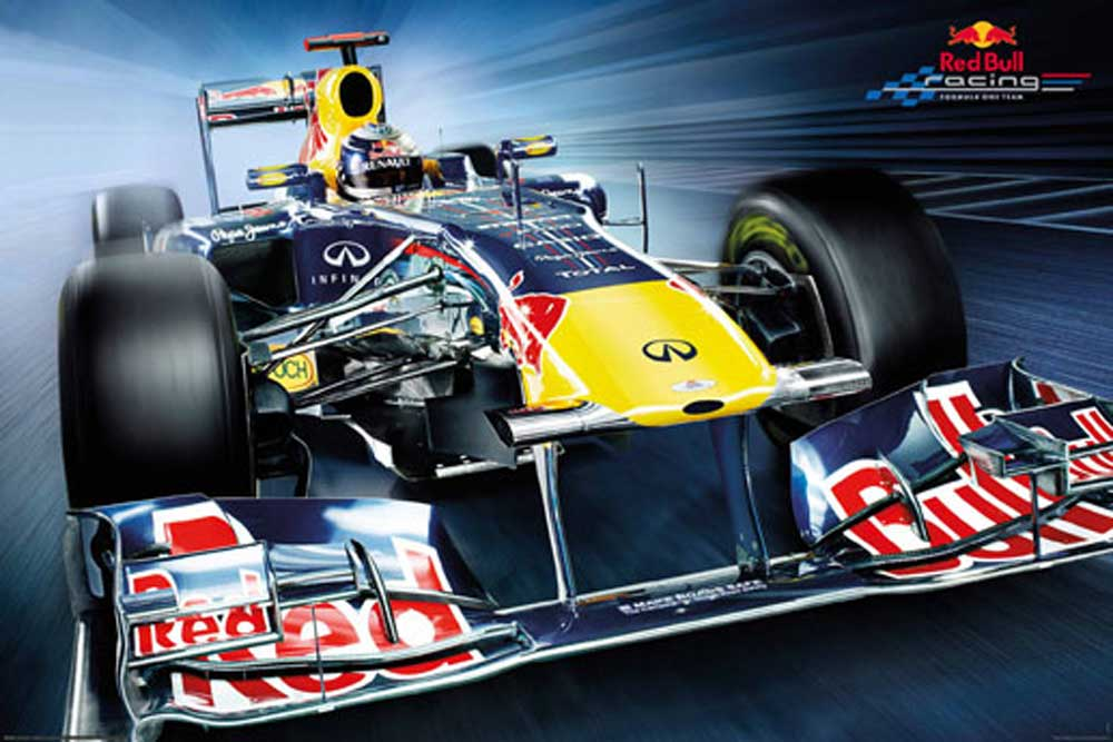 formel 1 red bull racing f1 frontal poster 91 5x61. Black Bedroom Furniture Sets. Home Design Ideas