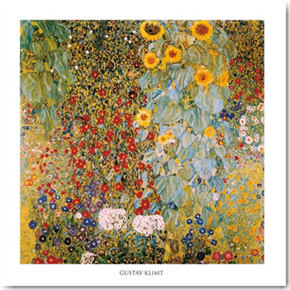gustav klimt il giardino di campagna con girasoli. Black Bedroom Furniture Sets. Home Design Ideas