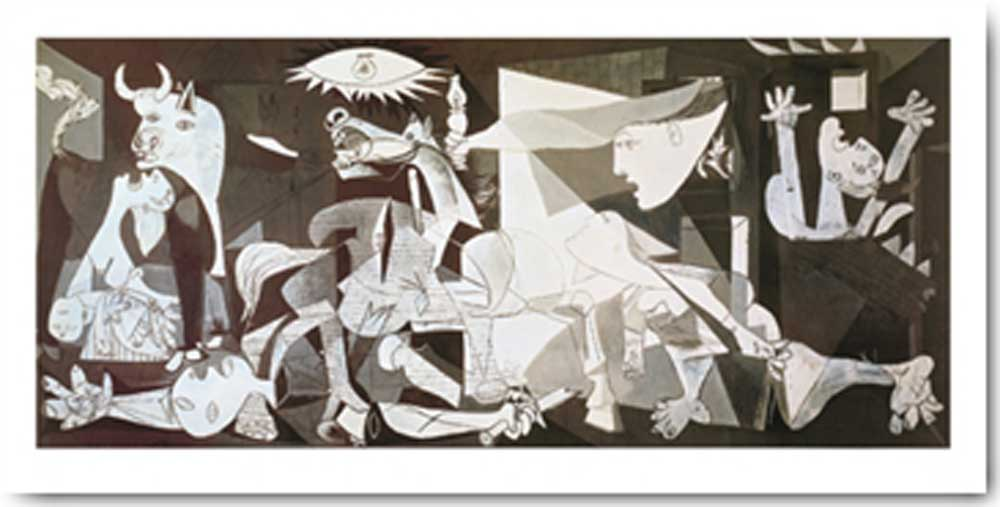 pablo picasso guernica kunstdruck 100x50. Black Bedroom Furniture Sets. Home Design Ideas