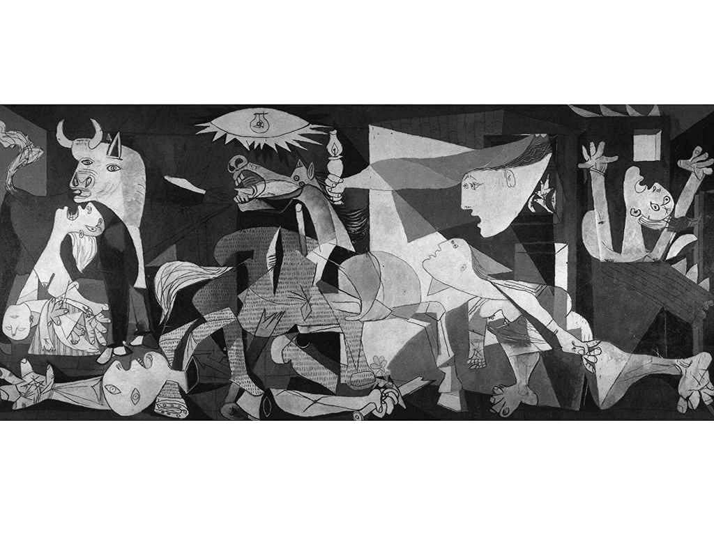 pablo picasso guernica kunstdruck 140x70. Black Bedroom Furniture Sets. Home Design Ideas