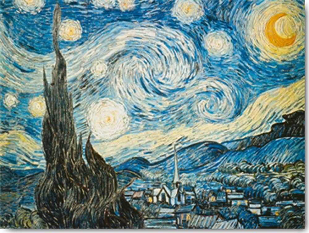 Vincent van gogh la notte stellata kunstdruck 80x60 for La notte stellata vincent van gogh