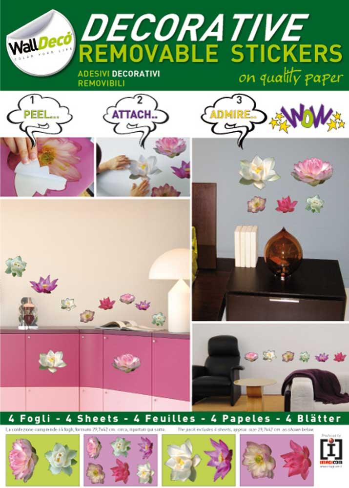 Zen - Lotusblüten - Decosticker Aufkleber - Wand-Sticker - A3