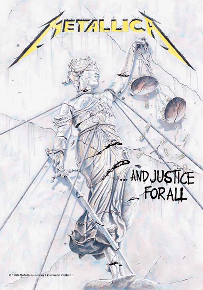 metallica and justice for all posterflagge 75x110. Black Bedroom Furniture Sets. Home Design Ideas