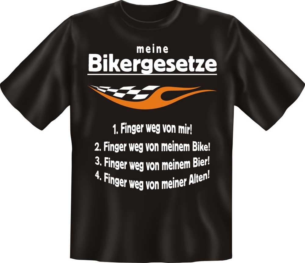 motorrad bikergesetze t shirt textilien l. Black Bedroom Furniture Sets. Home Design Ideas