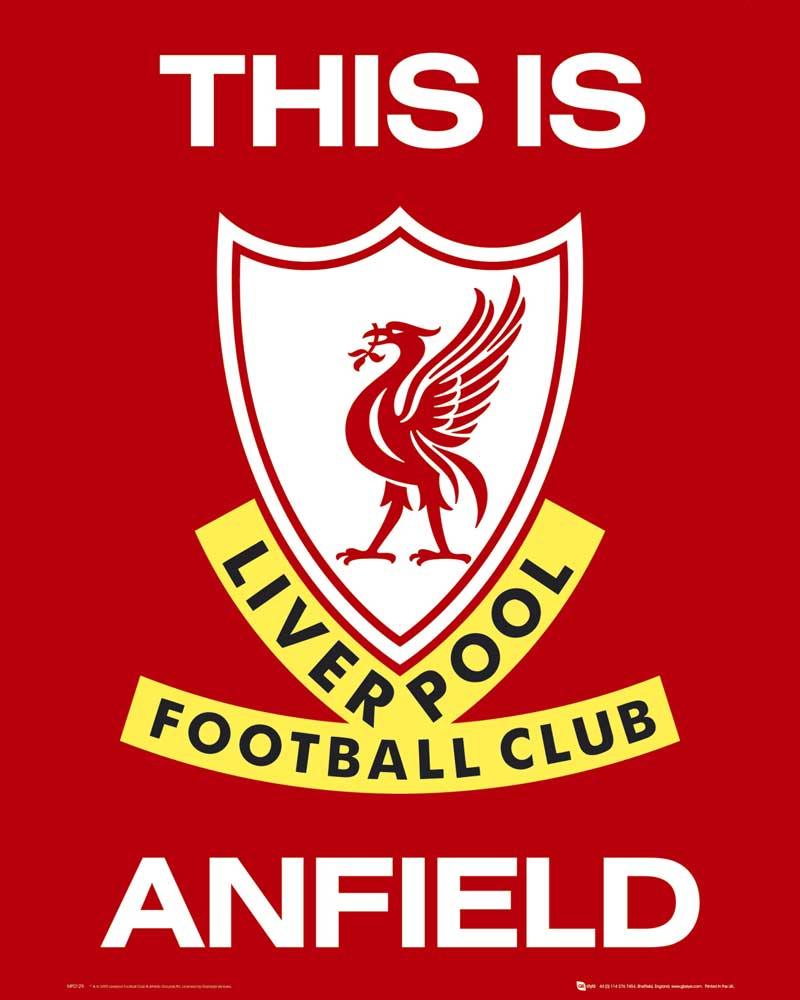 fussball  liverpool  club logo  miniposter  40x50