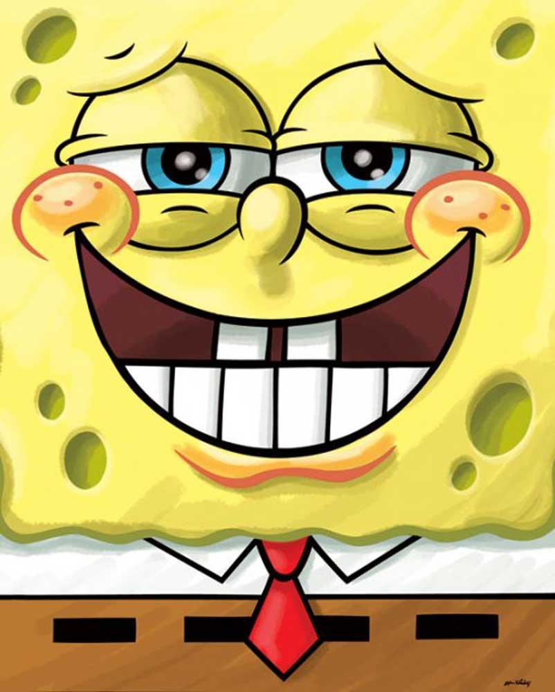 Sponge Bob Eating Doritos Colroing In: Mini-Poster
