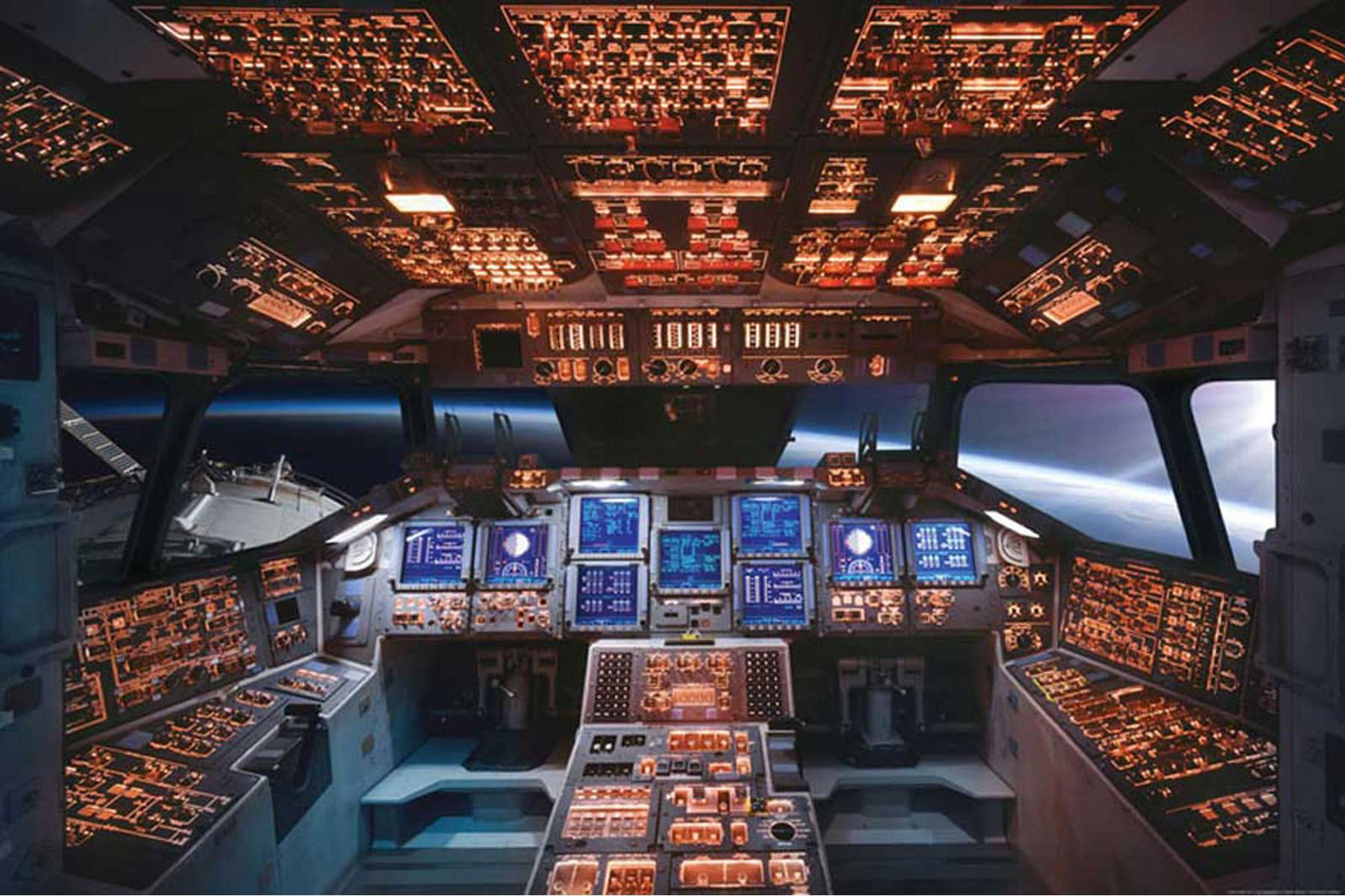Space Shuttle Instrument Panel : Educational bildung space shuttle cockpit columbia