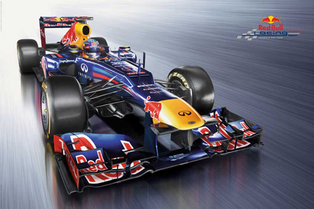 formel 1 red bull racing 2012 poster 91 5x61. Black Bedroom Furniture Sets. Home Design Ideas