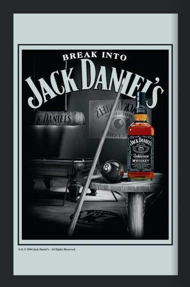 jack daniels billiard maxi spiegel 30x40. Black Bedroom Furniture Sets. Home Design Ideas