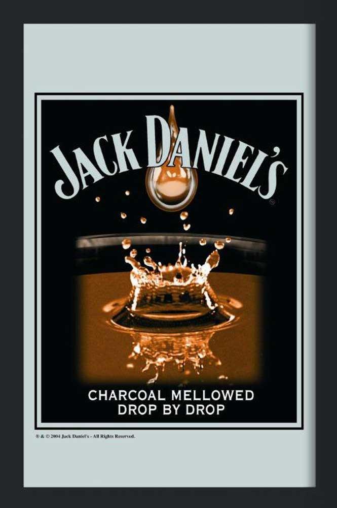 jack daniels tropfen maxi spiegel 30x40. Black Bedroom Furniture Sets. Home Design Ideas