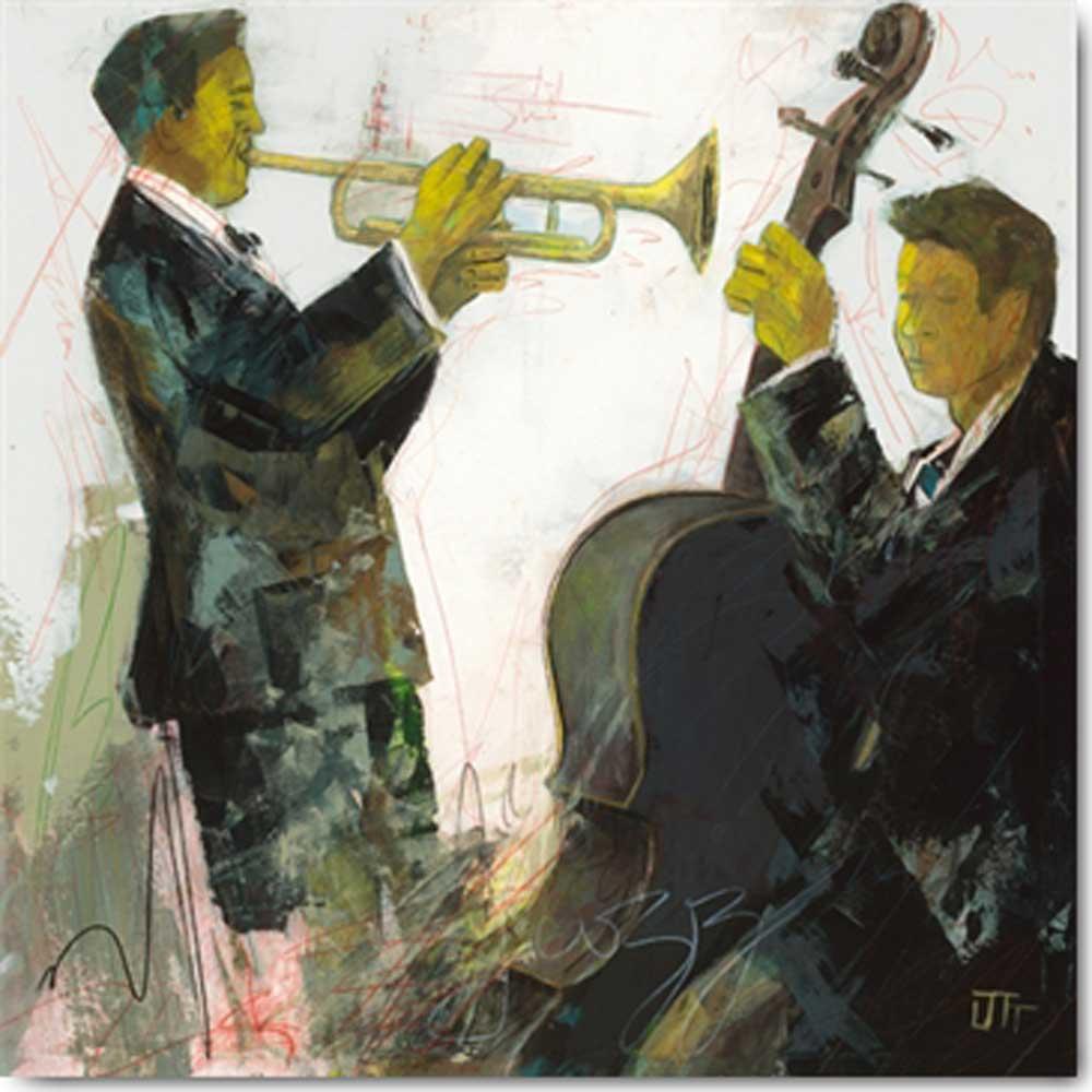 Ott Bernard Le violon Grösse 30x30 Kunstdruck