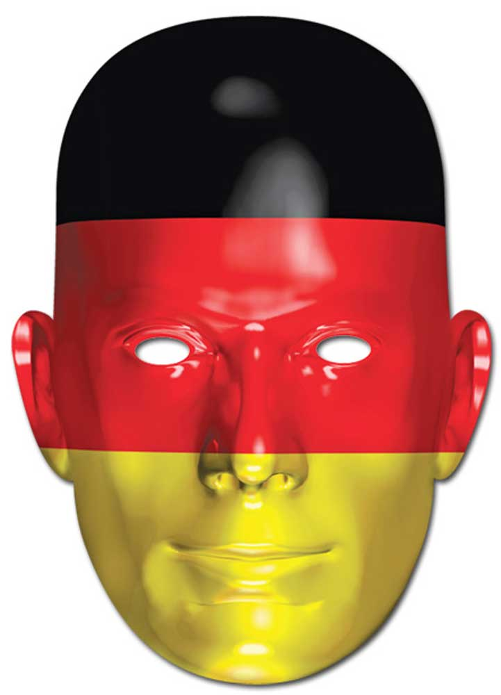 deutschland flagge fan maske papp masken ca 30x21. Black Bedroom Furniture Sets. Home Design Ideas