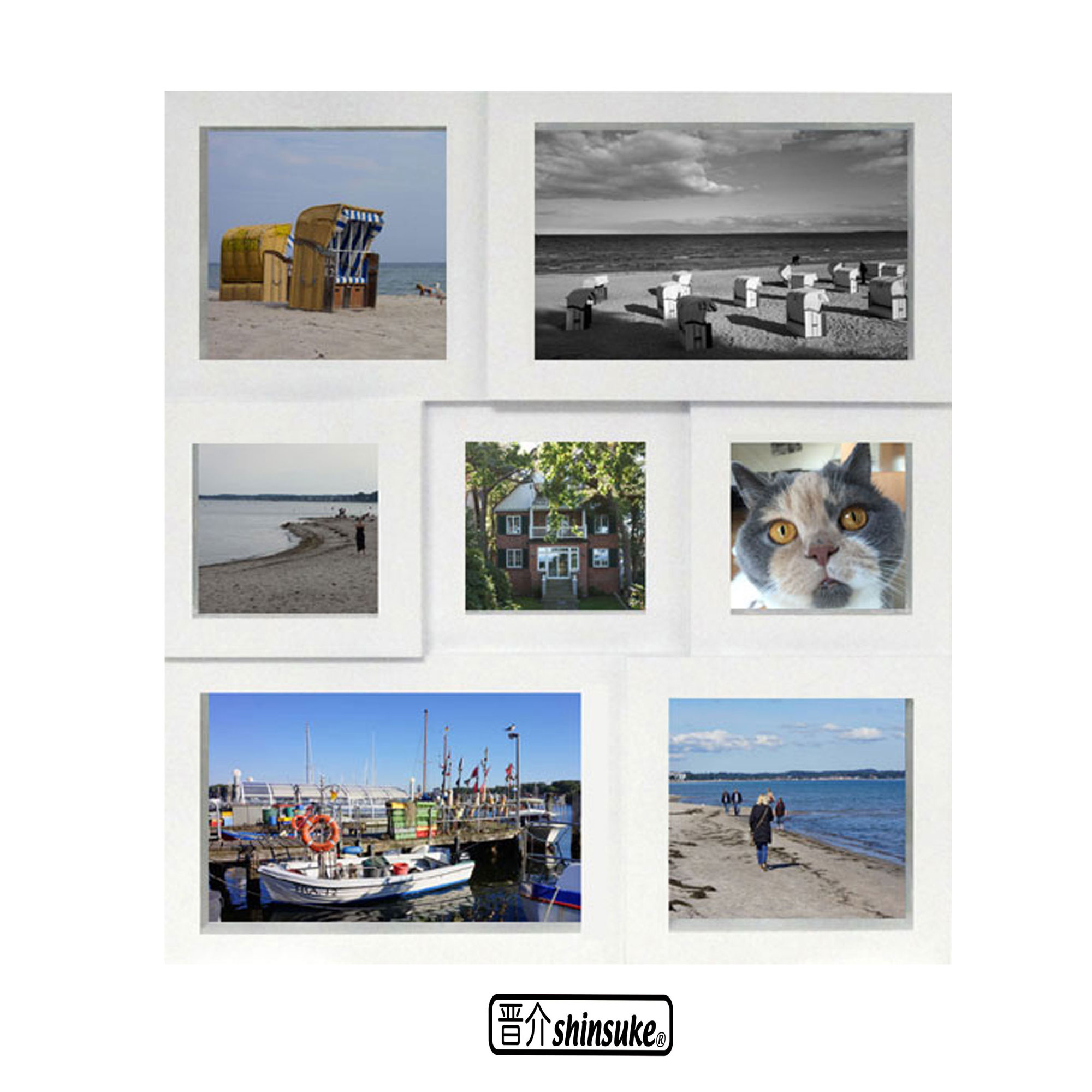 Collage Bilderrahmen 7er - Kunststoff weiss Multishot ...