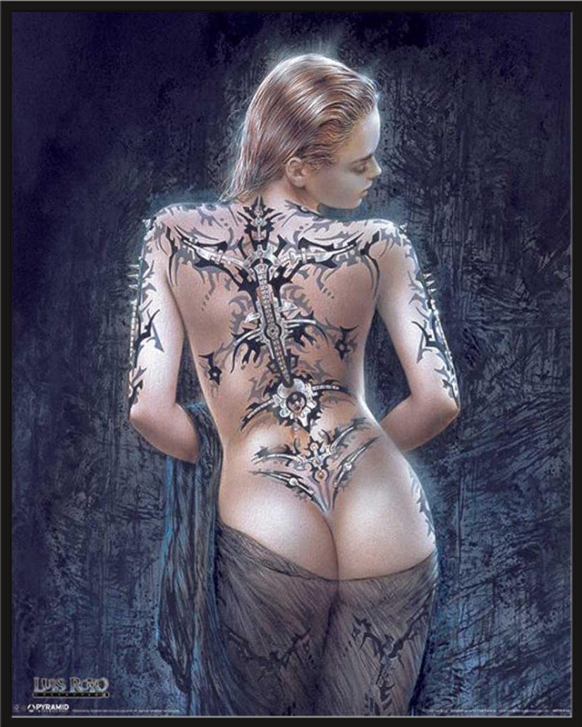 La Flor Del Dolor Fantasy Girls Mini Poster Plakat Druck Luis Royo
