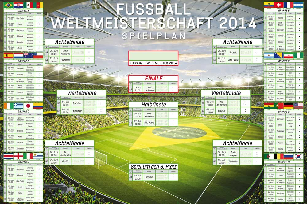 FuГџball Weltmeisterschaft Spielplan