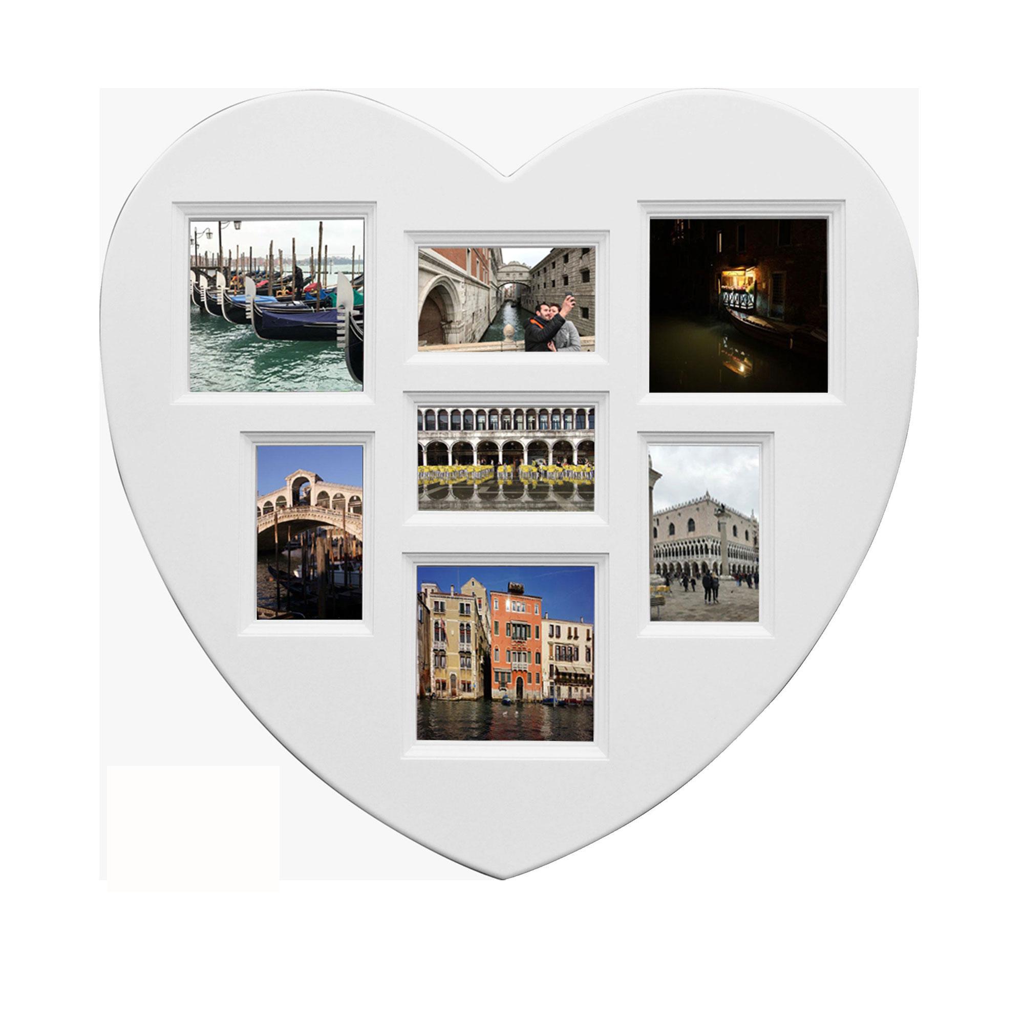Collage Bilderrahmen - Herz Mini Multishot - Wechselrahmen - 30x29