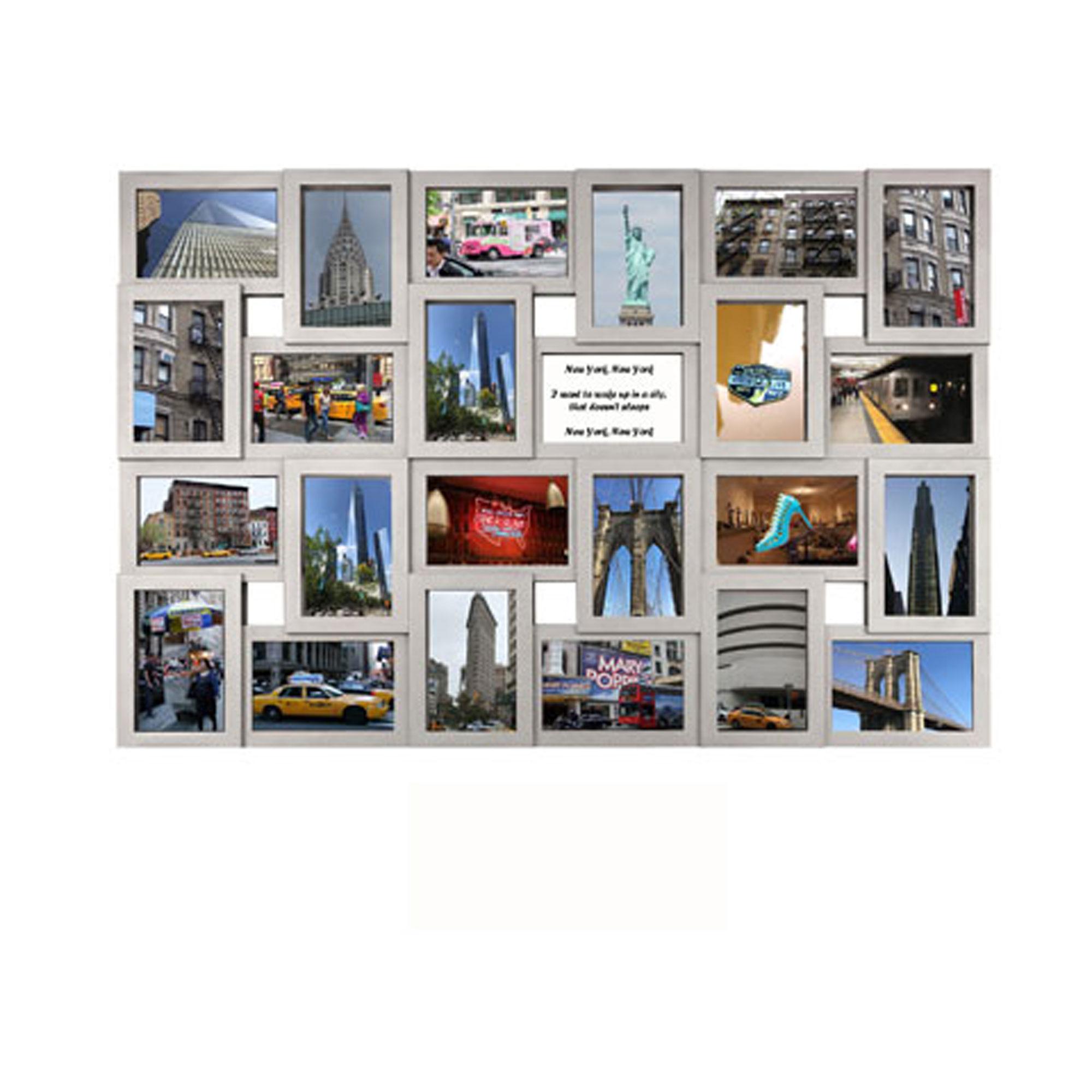 Collage Bilderrahmen - Modena Multishot silber - Wechselrahmen - 57x86