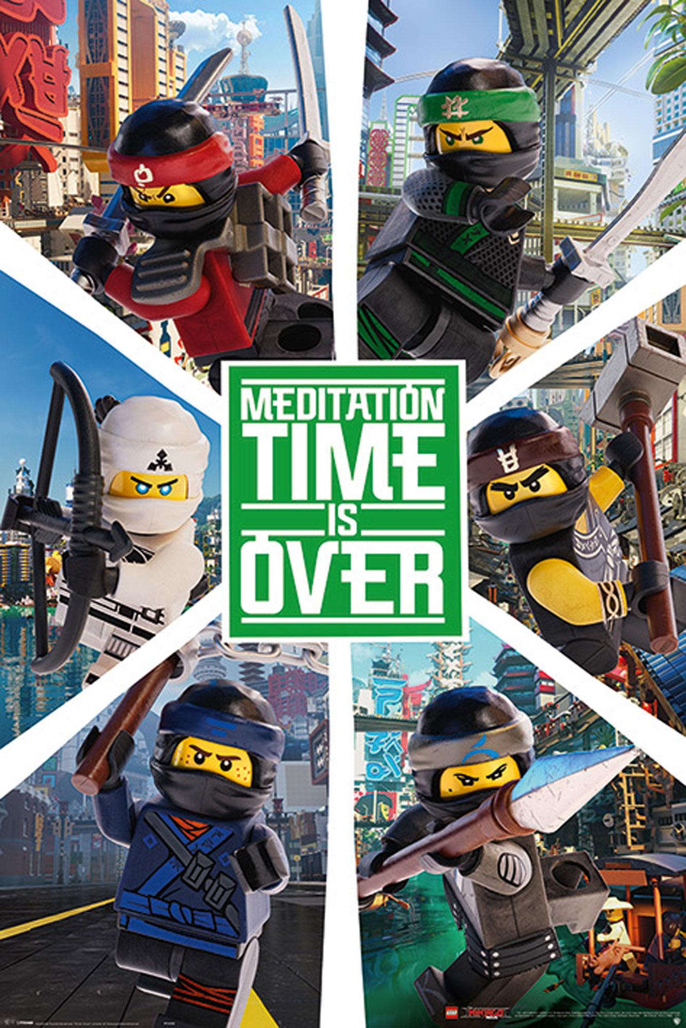 Lego Ninjago - Movie - Six Ninjas - Poster - 61x91,5