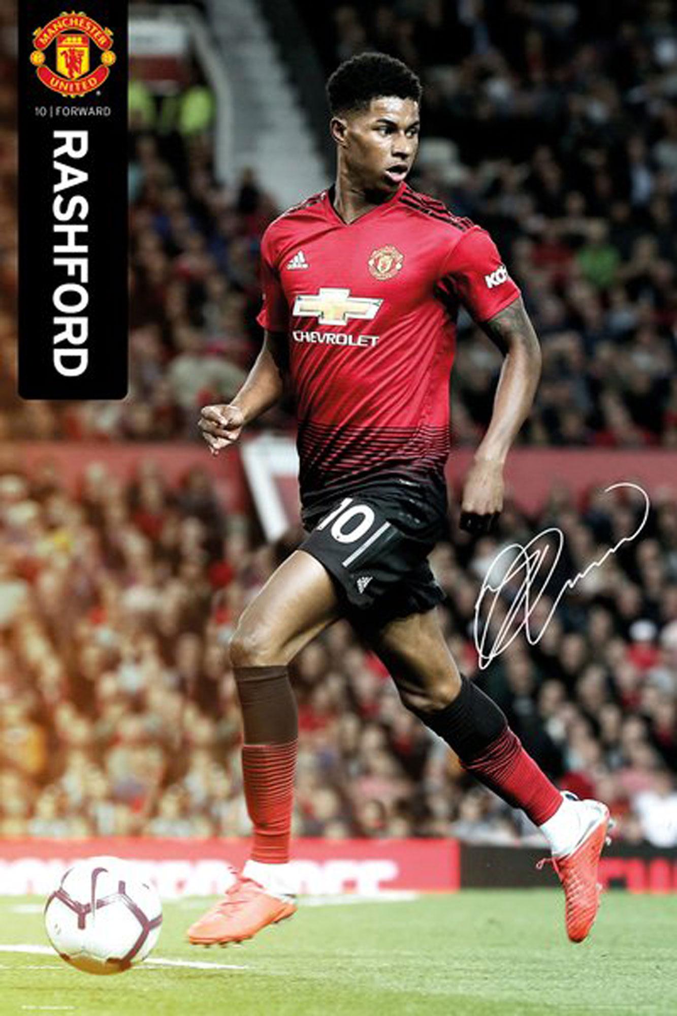 Rushford 18/19 Manchester United Fußball Poster Größe 61x91,5 cm