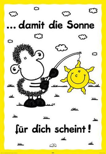 Sheepworld - Sonne - Poster - 61x91,5