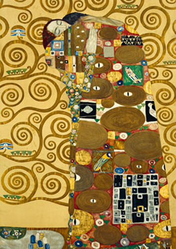 gustav klimt die erf llung kunstdruck 21x29. Black Bedroom Furniture Sets. Home Design Ideas