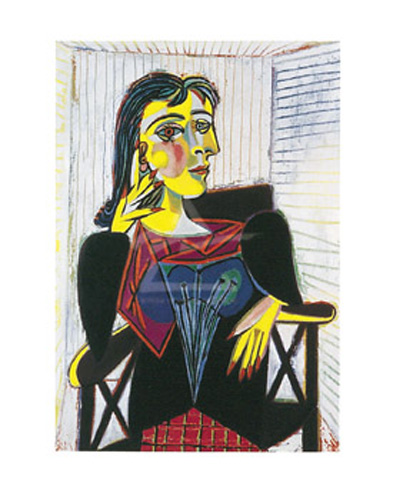 picasso dora maar seated kunstdruck 35 5x28. Black Bedroom Furniture Sets. Home Design Ideas