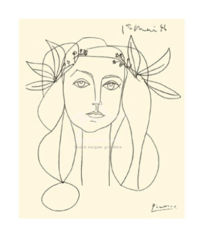 picasso head 1946 serigraph kunstdruck 110x90. Black Bedroom Furniture Sets. Home Design Ideas
