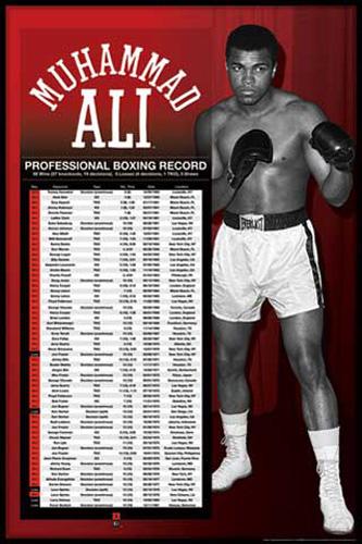 muhammad ali professional boxing record poster 61x91 5. Black Bedroom Furniture Sets. Home Design Ideas
