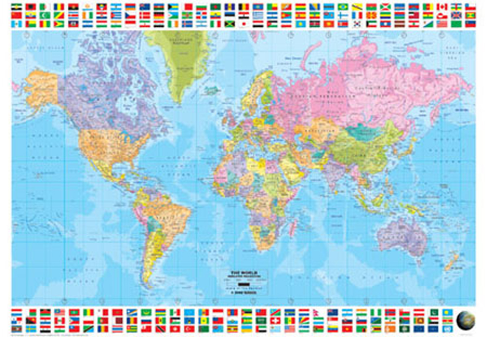 Fantastisch Kinderzimmer Poster Weltkarte Fotos