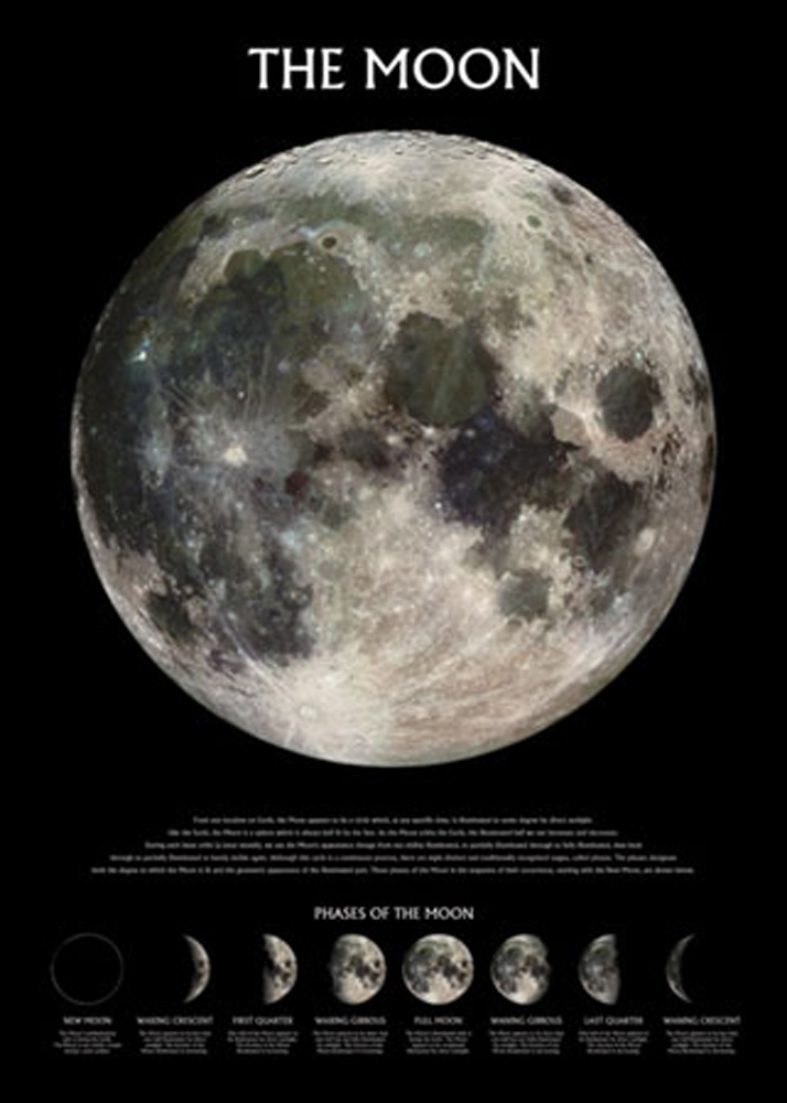 Space And Universe - Poster - Der Mond