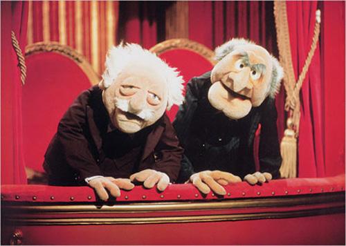 the muppets walldorf statler theater kunstdruck. Black Bedroom Furniture Sets. Home Design Ideas