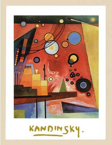 Kandinsky Wassily Schweres Rot Folienprägung Druck Grösse 60x80 Kunstdruck