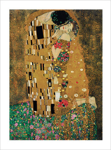 gustav klimt der kuss il bacio kunstdruck 60x80. Black Bedroom Furniture Sets. Home Design Ideas