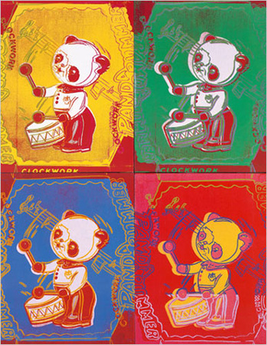 Andy Warhol - Kunstdruck / Art Poster - Four Pandas, 1983