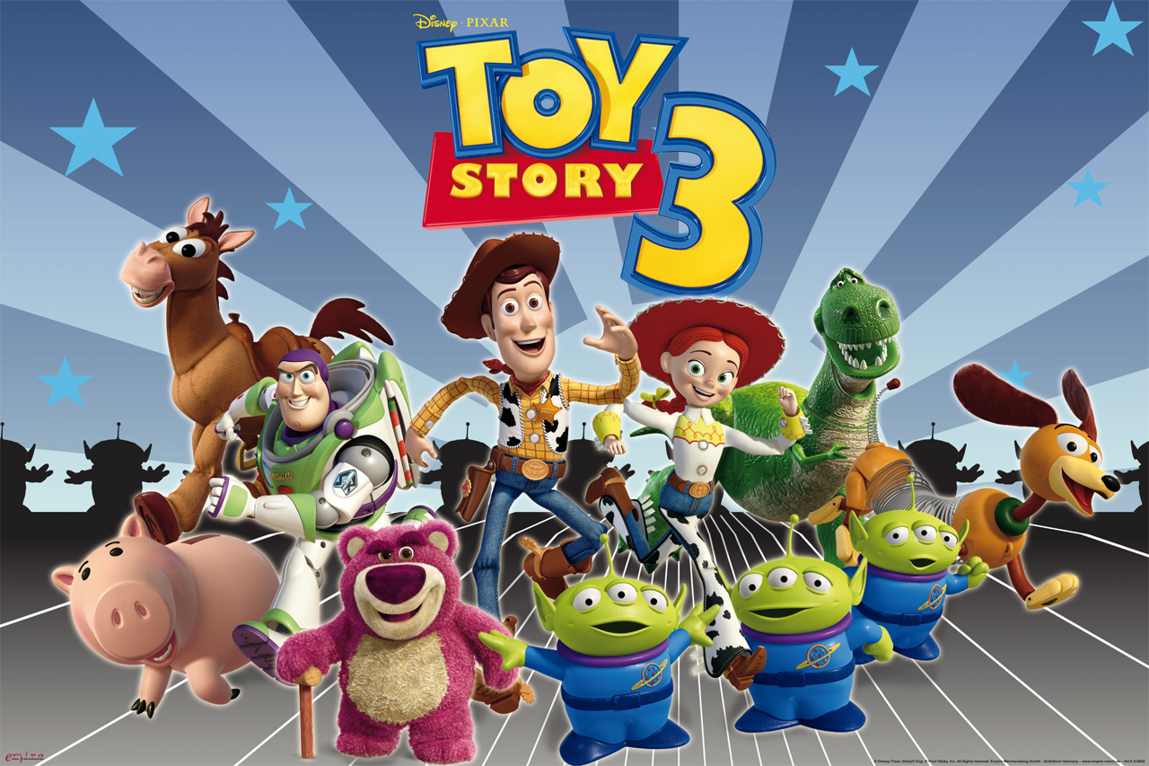 Toy Story - 3 Full Cast - Poster - 915x61