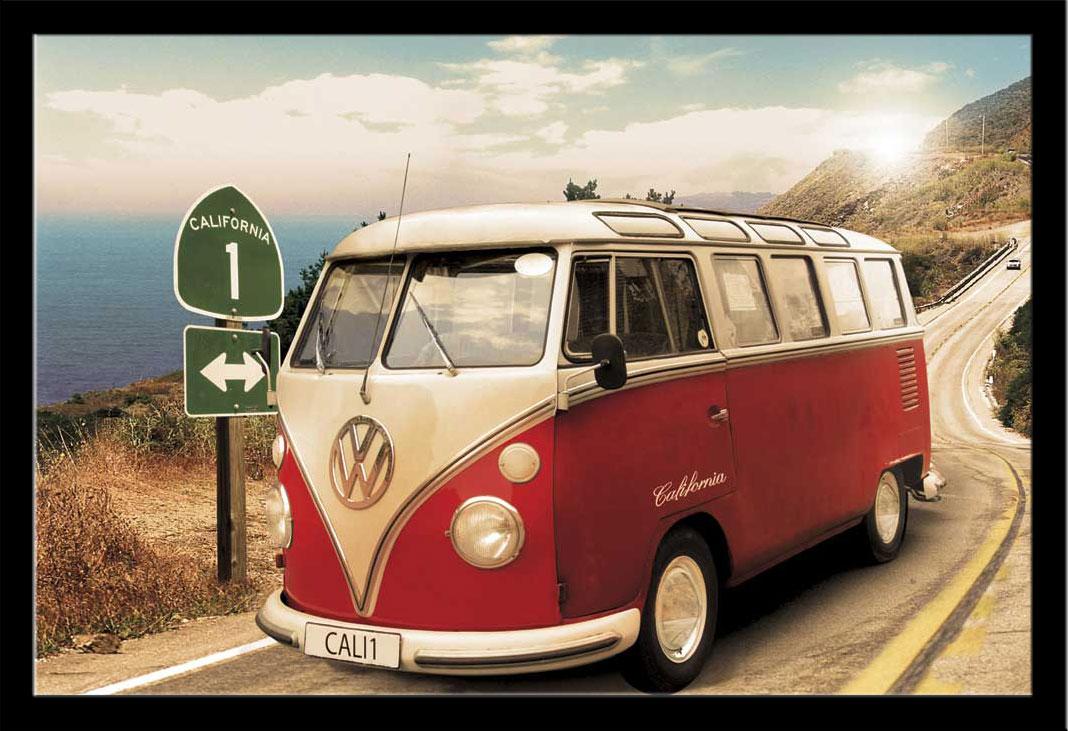 volkswagen vw bus t1 poster 91 5x61. Black Bedroom Furniture Sets. Home Design Ideas