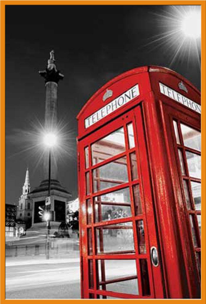 colourlight Poster Druck Größe 61x91,5 cm Red Telephone Box London