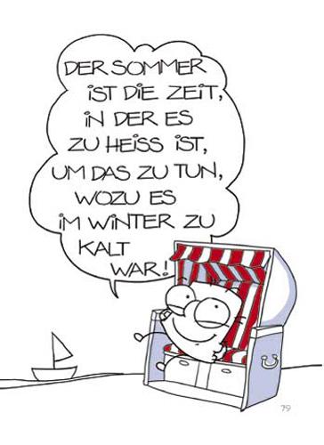 Strandkorb comic  Grimmis - Fun: Strandkorb - Postkarte - 10,5x14,8 A6