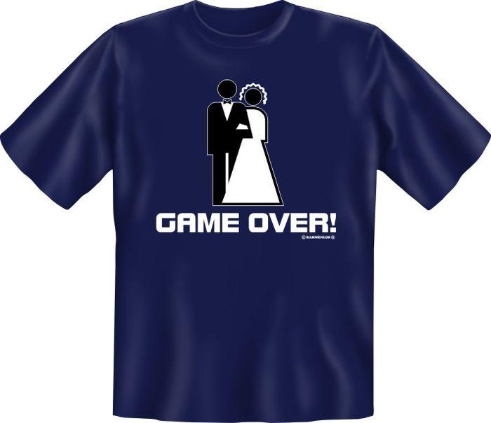 hochzeit game over t shirt textilien xxl
