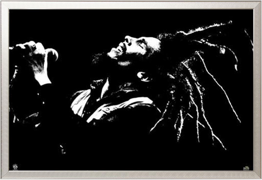 Marley Bob Poster Druck Größe 91,5x61 cm Dreds Raggae Musik