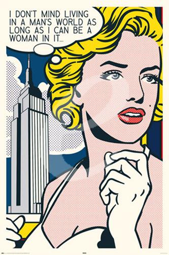 marilyn monroe pop art poster 61x91 5. Black Bedroom Furniture Sets. Home Design Ideas
