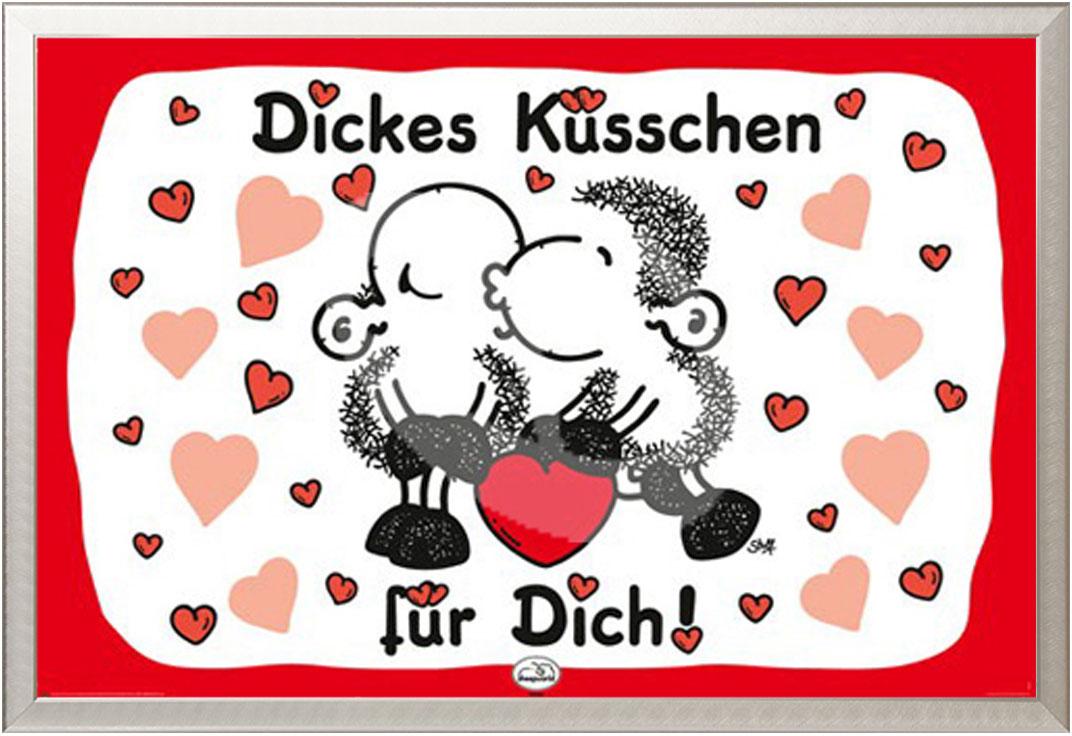 Sheepworld Dickes Kusschen Poster 91 5x61