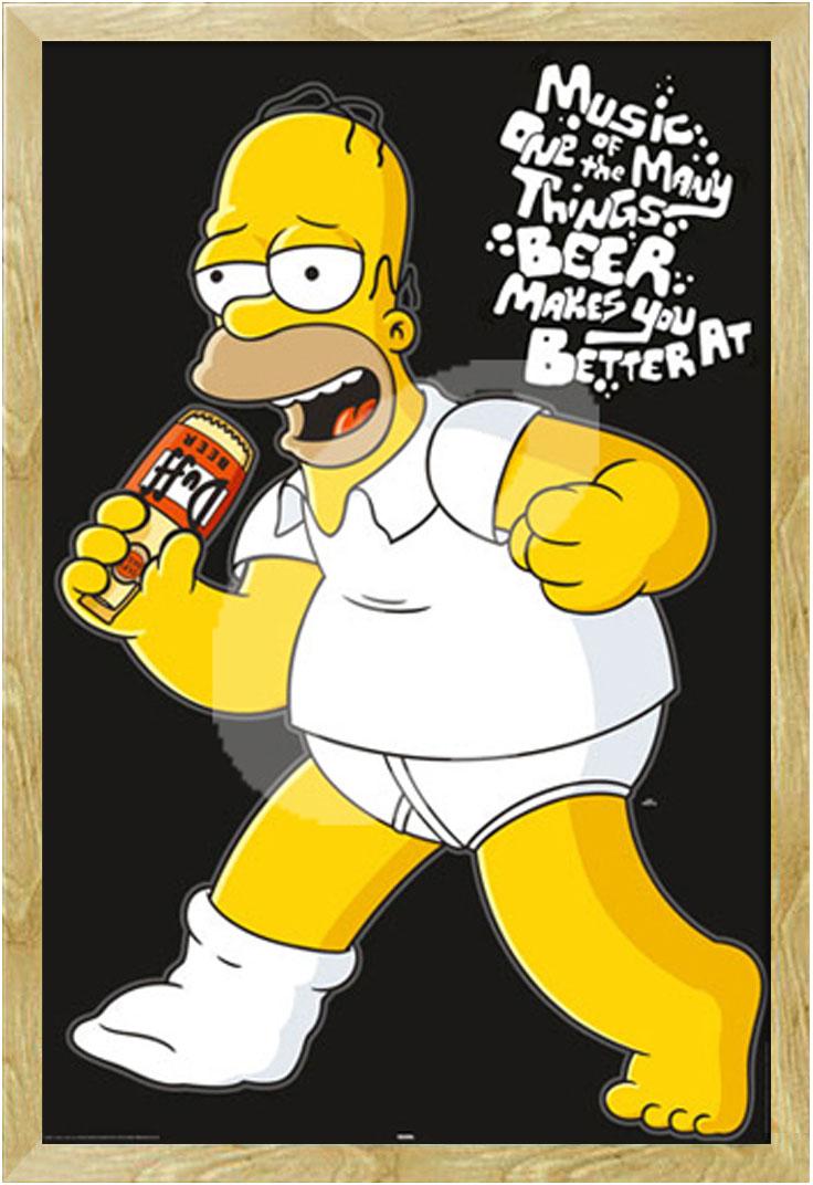 Simpsons Poster Druck Film Movie Kino Größe 61x91,5 cm Homer Music