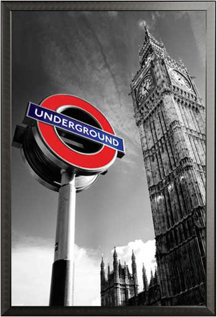 london big ben underground sign poster 61x91 5. Black Bedroom Furniture Sets. Home Design Ideas