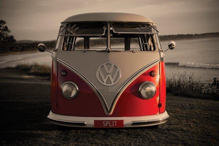 volkswagen vw bus poster 91 5x61. Black Bedroom Furniture Sets. Home Design Ideas