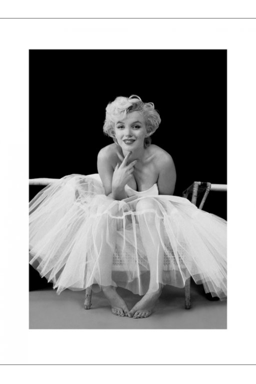 marilyn monroe ballerina 1col kunstdruck 60x80. Black Bedroom Furniture Sets. Home Design Ideas