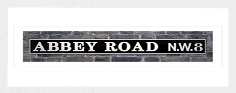 Beatles Abbey Road Schild Kunstdruck