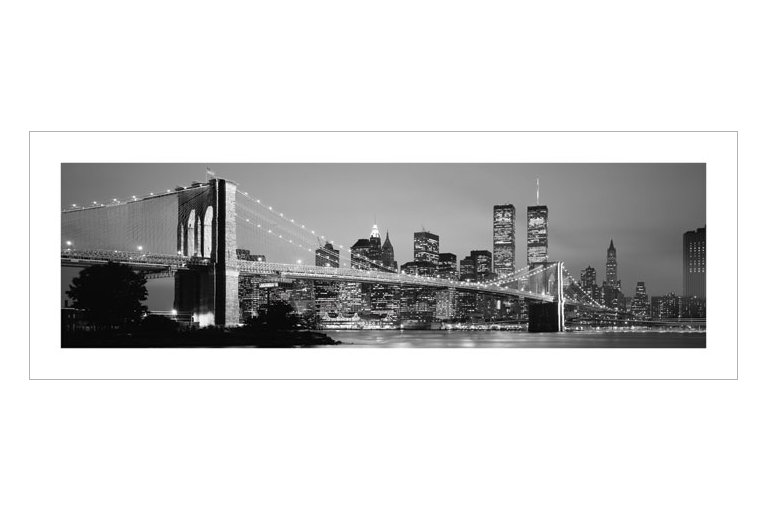 new york skyline kunstdruck 95x33. Black Bedroom Furniture Sets. Home Design Ideas